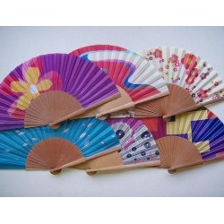 Silk wooden fan 29