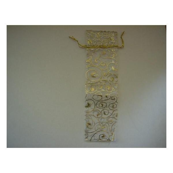 Bolsita abanico organza oro