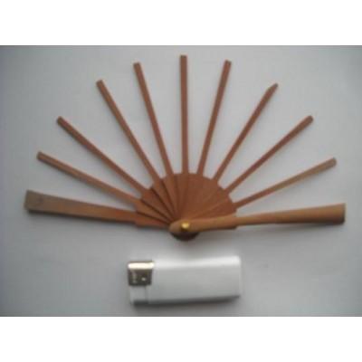 Ribs fans wood pear 3x9 cms