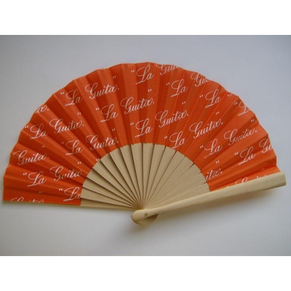 wooden fans 19 cms printed