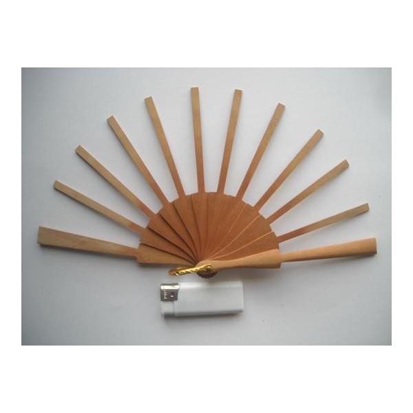 Ribs fans pear wood P 5.2 x 13 cms