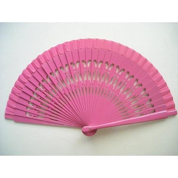 Hand fan 785 dark pink
