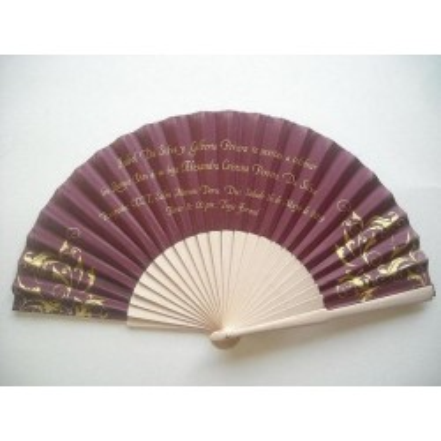wood fan invitation