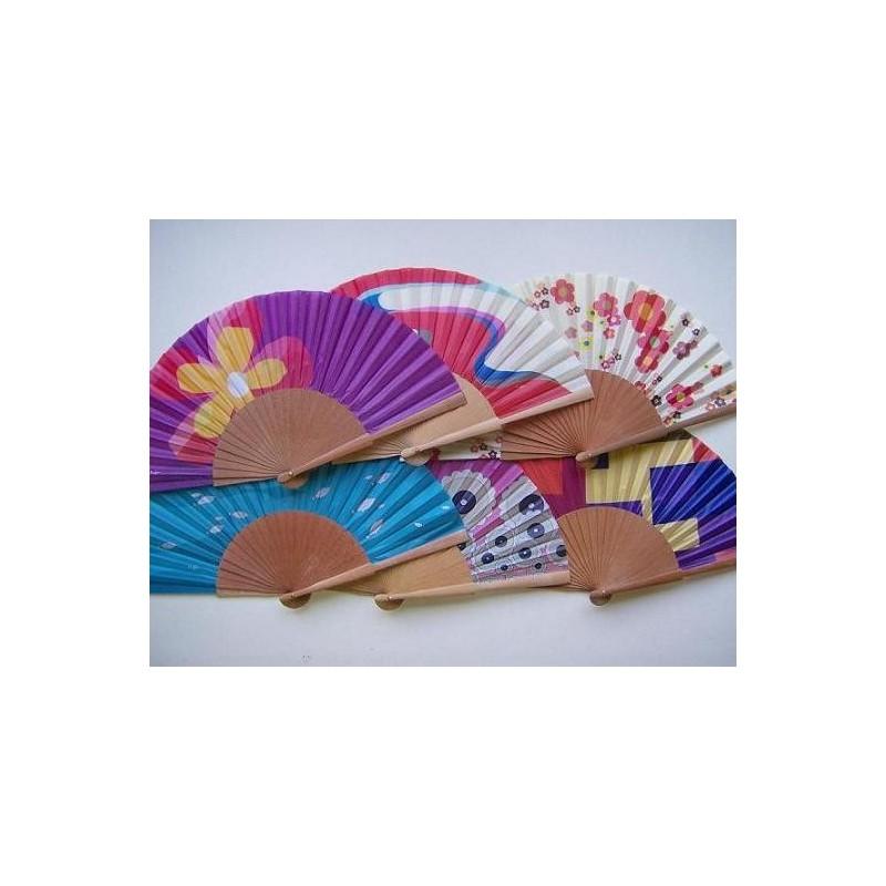 Silk wooden fan 29