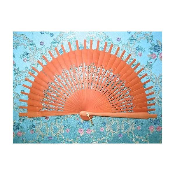 Ribs fans pear wood V-18 14.5x16.5 cms