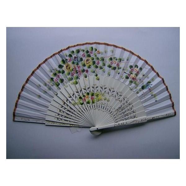 Hand fan 502 white