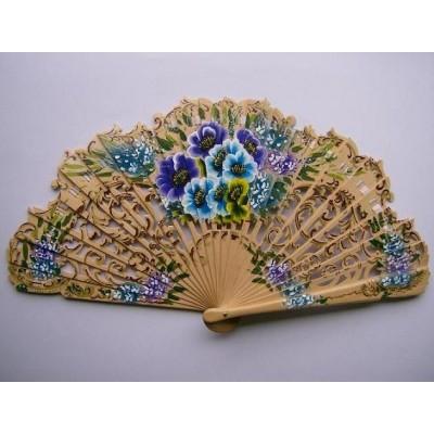 Wooden hand fan 9600 natural