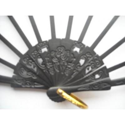 Pear ribs fan P 5.2 x 17.5 cms G20 Black