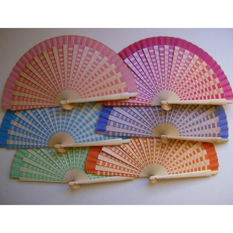 Wooden fan  8010