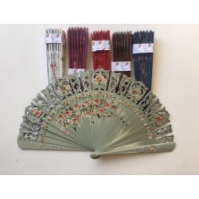 wooden hand fan 8001